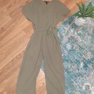 Olive green jumpsuit large